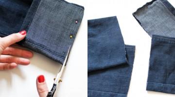 Comment faire des pantoufles avec un vieux jeans?